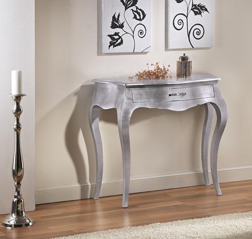 Consolle foglia argento art prestige for Consolle bagno ikea