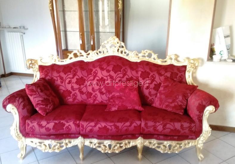 Divano barocco 3 posti art prestige luxury furniture for Divano barocco