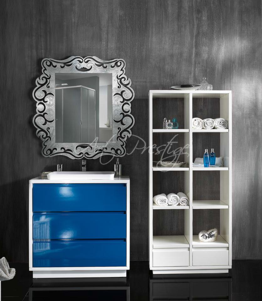 Mobile bagno blu e bianco art prestige for Mobile bagno blu