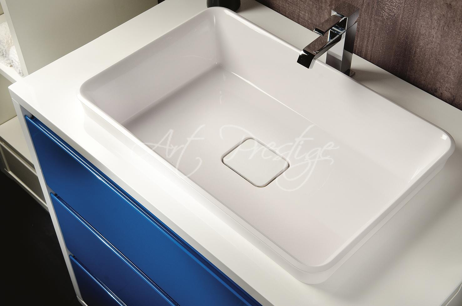 Mobile bagno blu e bianco art prestige - Mobile bagno blu ...