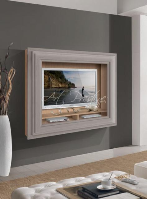 Art.571 Porta tv con cornice sospesa - Art Prestige – Luxury Furniture