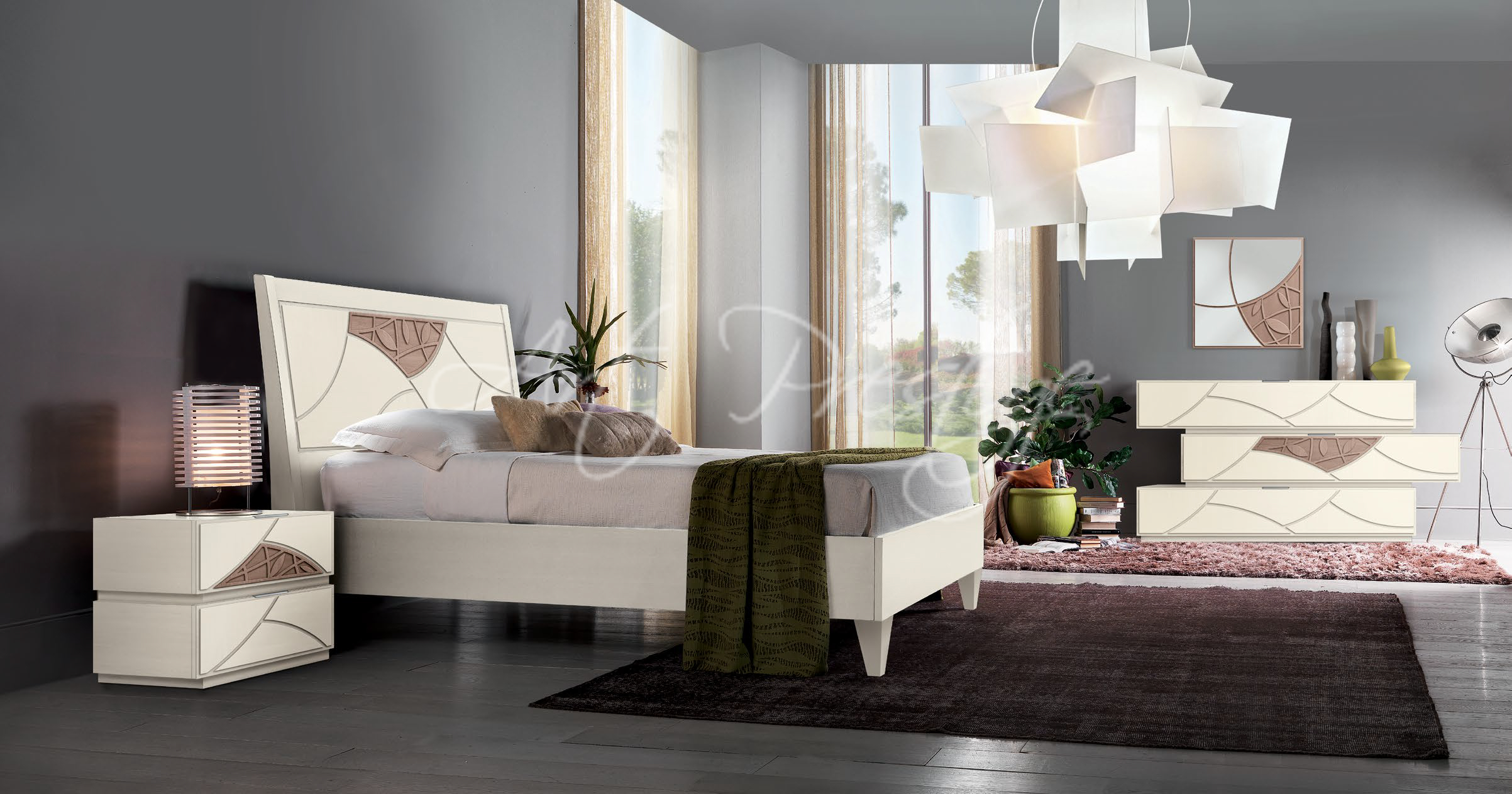 Camera da letto con decori art prestige luxury - Decori camera da letto ...