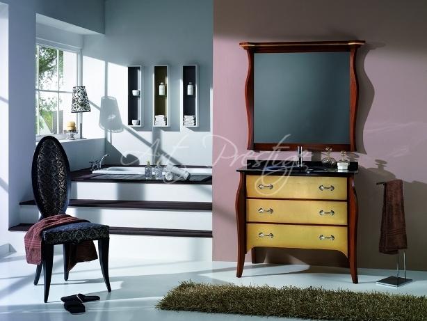 Art Soft2 Mobile Bagno Foglia Oro Maniglie Art Prestige Luxury