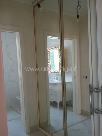 Armadio a specchio+mobile bagno
