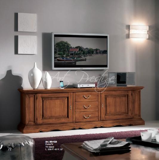 Porta Tv Classico Noce.Art 887 Gb Porta Tv Classico Finitura Noce Art Prestige