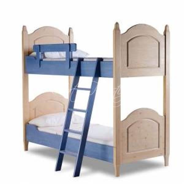 Cameretta in abete laccata blu art prestige luxury furniture - Misure letto a castello ...