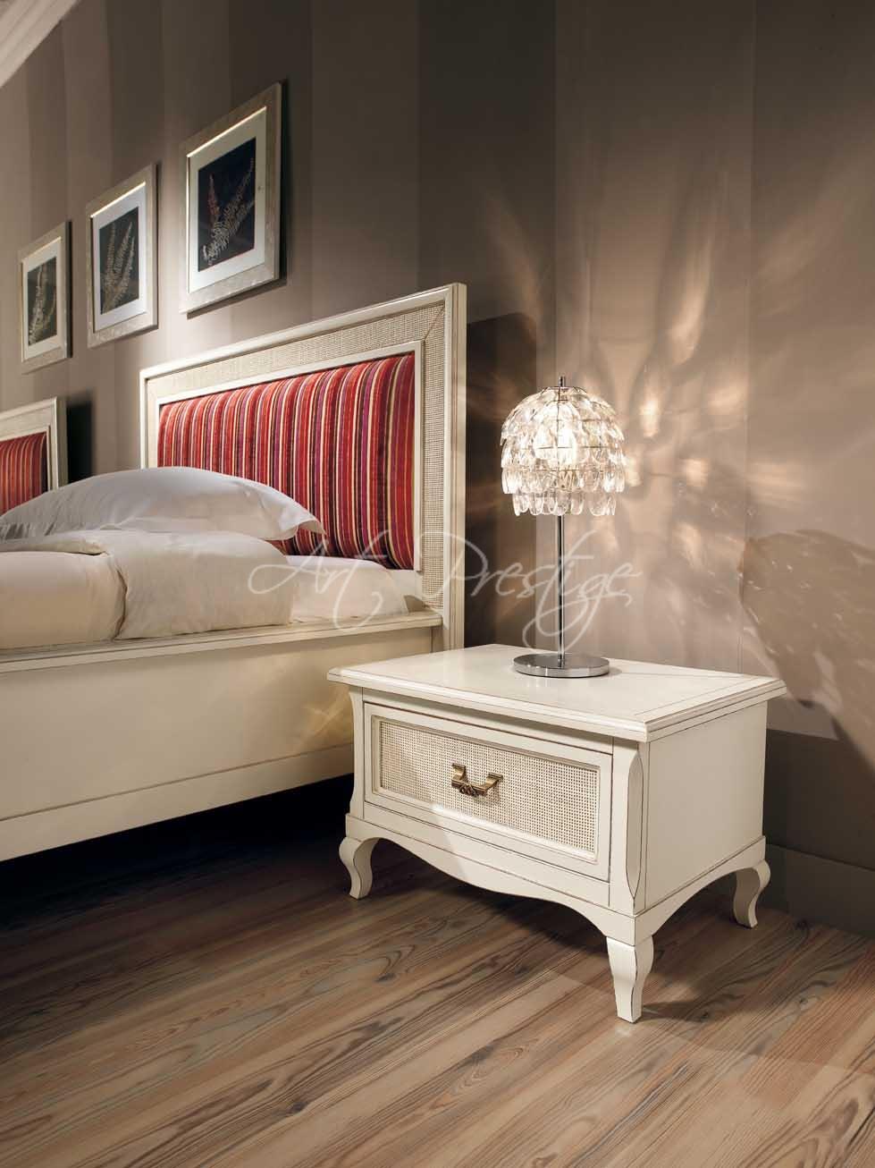 Art h5005 letto a testata paglia di vienna art prestige luxury furniture - Letto di paglia ...