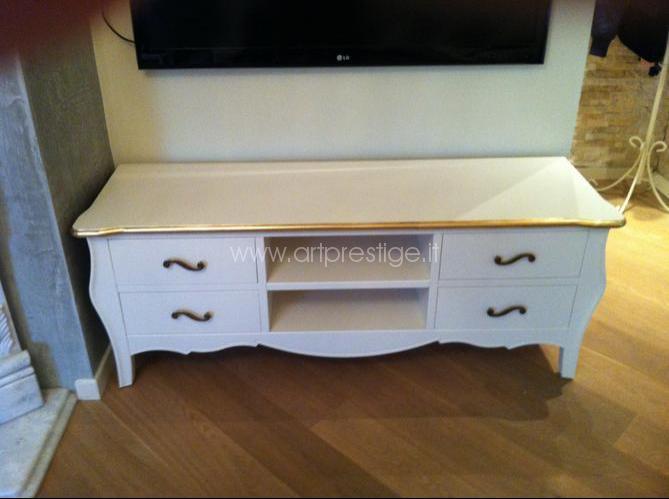 Porta Tv Foglia Oro.Porta Tv Art Prestige Luxury Furniture
