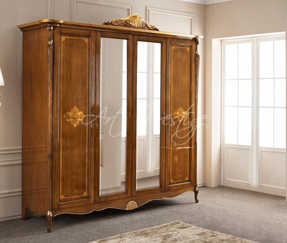 Art.P5036 Armadio quattro ante intarsiato - Art Prestige – Luxury ...