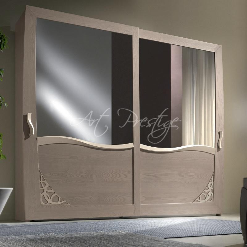 Armadio 2 Ante Scorrevoli Con Specchio.Art 5116 Armadio 2 Ante Scorrevoli Art Prestige Luxury Furniture